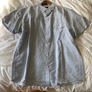J.Crew Short Sleeve Linen Buttondown